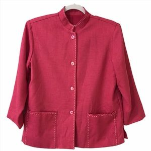 Vintage Patchington Pink Button Up Jacket Small